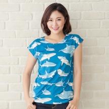 CoolMax吸濕排汗全彩2分之一袖《鯨豚鯊》