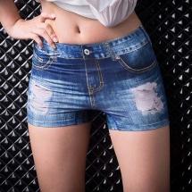CoolMax零著感安全褲《破洞牛仔藍》