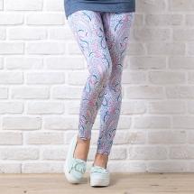 CoolMax吸濕排汗內搭褲《粉藍變形蟲》