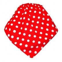 CoolMax吸濕透氣防水口水巾、領巾 _時尚點點(紅)