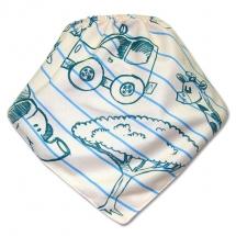 CoolMax吸濕透氣防水口水巾、領巾 _條紋動物