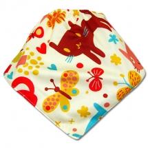 CoolMax吸濕透氣防水口水巾、領巾 _ 貓咪樂園