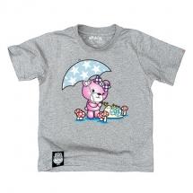 純棉短袖圖T《小熊與好朋友共傘》