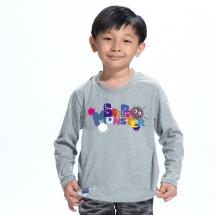 SHAPA保暖圓領兒童純棉T恤★長袖T恤潮TEE★可愛小怪獸