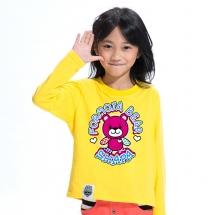 SHAPA保暖圓領兒童純棉T恤★長袖T恤潮TEE★BABY BEAR