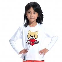 SHAPA保暖圓領兒童純棉T恤★長袖T恤潮TEE★LOVE BEAR