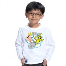 SHAPA保暖圓領兒童純棉T恤★長袖T恤潮TEE★HAPPY