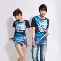 CoolMax吸濕排汗全彩情侶組《湛藍天空》