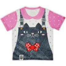 貓咪吊帶褲-粉紅