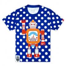 CoolMax吸濕排汗全彩_藍點點機器人