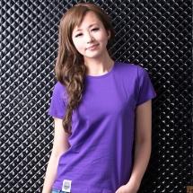 素色短TEE_女_紫