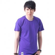 素色短TEE_男_紫