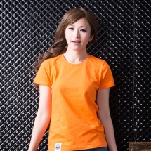 素色短TEE_女_橙