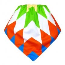 CoolMax吸濕透氣防水口水巾、領巾 _彩色菱格