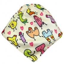 CoolMax吸濕透氣防水口水巾、領巾 _ 數字小矮人
