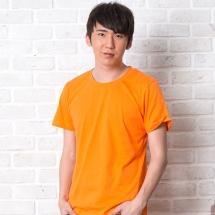 素色短TEE_男_橙