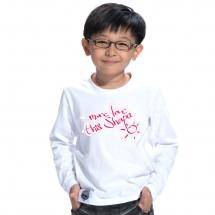 SHAPA保暖圓領兒童純棉T恤★長袖T恤潮TEE★LOVE SHAPA