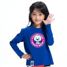 SHAPA保暖圓領兒童純棉T恤★長袖T恤潮TEE★STAR BEAR
